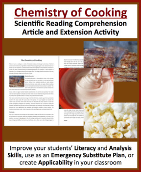 Chemistry of Cooking - Reading Article - Grade 8 and Up