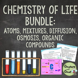 Chemistry of Life Bundle- Matter, Diffusion, Organic Compounds