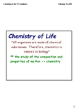 Chemistry of Life Notes (PDF)