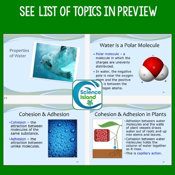 Chemistry of Life PowerPoint Lesson and Notes: Chemistry Review for Biology