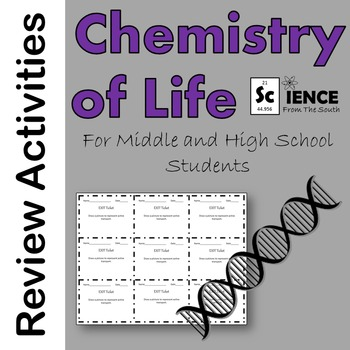 Macromolecules, Enzymes, and Cellular Transport Review Activities Bundle