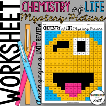 Chemistry of Life Review Mystery Picture for Review or Assessment