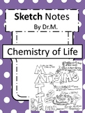 Chemistry of Life Sketch Notes W/Teacher's Guide & Student Notes