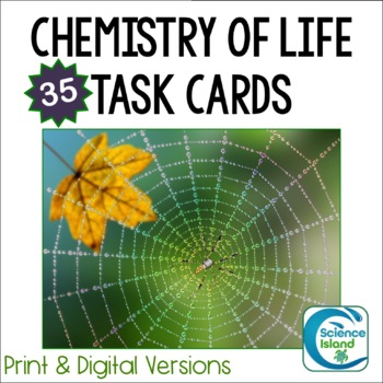 Chemistry of Life Task Cards - Chemistry Review Activity f
