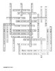 Chemistry of Life Vocabulary Crossword for Zoology