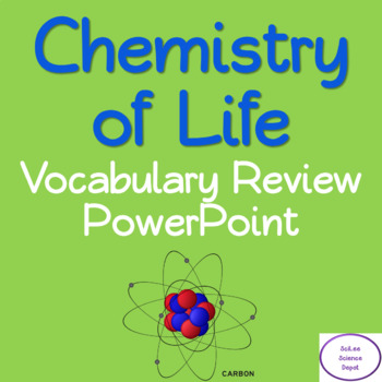 Chemistry Of Life Vocabulary Worksheets Teaching Resources