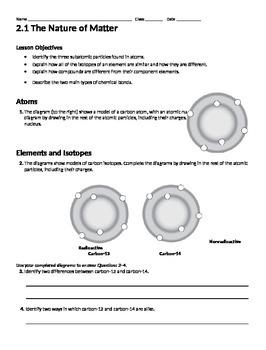 Chemistry of Life Worksheet Packet