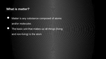 Chemistry of Life and Matter