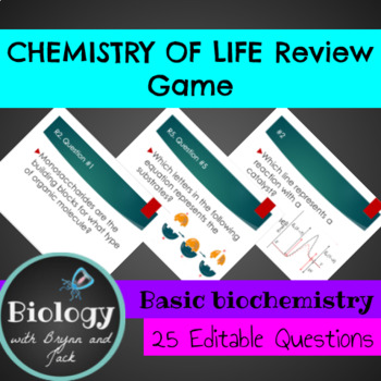 Chemistry of Life (biochemistry) Review Game