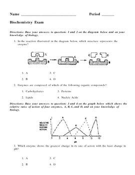 Chemistry of Living Things - Biochemistry Exam