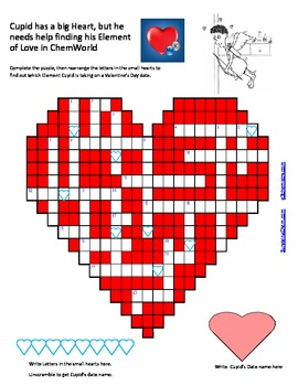 Chemistry Of Love: A Fun Valentineu0027s Day Puzzle Activity For HS Chemistry