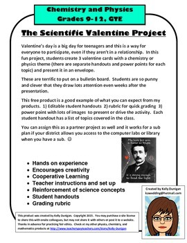 Chemistry or Physics Valentine Project