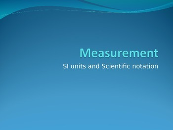 Chemistry powerpoint: Measurement, density, and significant figures unit