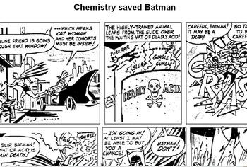 Chemistry saved Batman