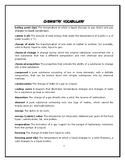 Chemistry vocabulary