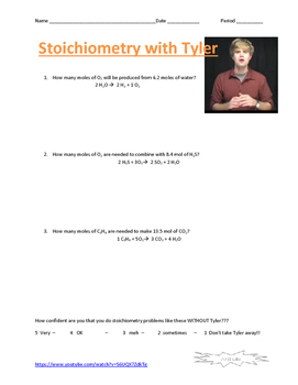 Chemistry with Tyler video guide 13 pack