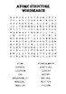 Chemistry word search Puzzle: Atomic Structure (Includes solution)