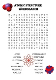 Chemistry word search Puzzle: Atomic Structure (Includes s
