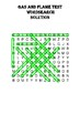 Chemistry word search Puzzle: Gas and flame tests (Includes solution)