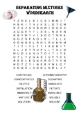 Chemistry word search Puzzle: Separating Mixtures (Include