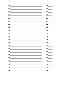 Chemisty Review Packet & Scavenger Hunt (NYS Reference Tables)
