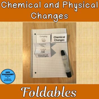 Chemical And Physical Changes Foldable Differentiate The border=