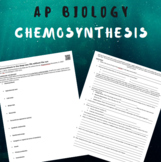 Chemosynthesis in the Deep Sea (AP Biology)- WITH KEY