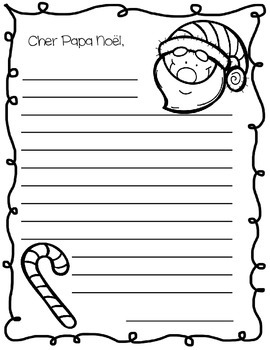 Cher Papa Noël ~ French Letter to Santa