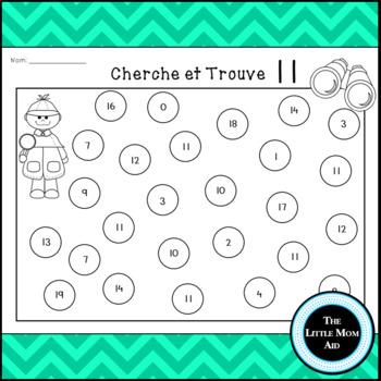 Cherche et Trouve Les Numéros 11-20 | French I Spy Numbers 11-20
