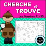 Cherche et Trouve Les Numéros 21-30 | French I Spy Numbers 21-30