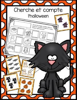 Cherche et compte - halloween