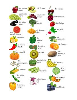 Cherche les paires - les fruits et les légumes