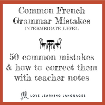 Cherchez l'erreur - Identify and correct common mistakes in French