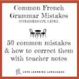 Cherchez l'erreur - Identify and correct common mistakes i