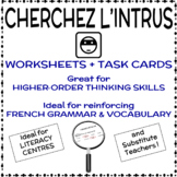 Cherchez l'intrus - French Vocabulary Activity
