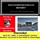Chernobyl Nuclear Accident Differentiated Reading Passage April 26