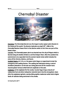 Chernobyl Nuclear Accident - Lesson History Facts Questions Vocabulary Overview