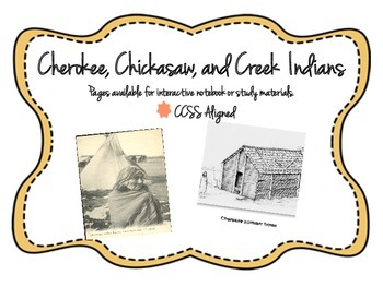 Cherokee, Chickasaw, and Creek Indians