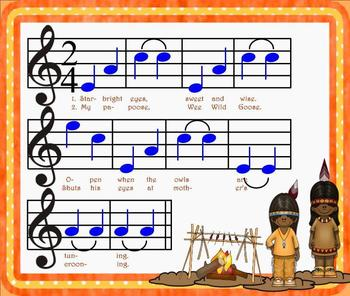 Cherokee Cradle Song: Song to Practice New Rhythm Ta-a - SM NTBK Edition