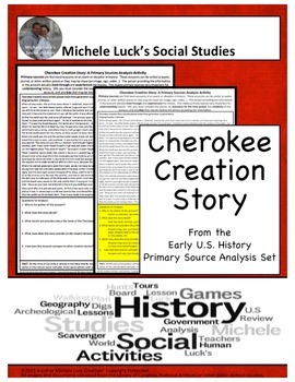 Cherokee Creation Story Native American Document Analysis Activity