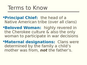 Cherokee, Creek, Chickasaw Comparison
