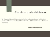 Cherokee, Creek, Chickasaw Comparison