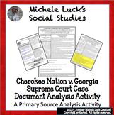 Cherokee Nation v Georgia Supreme Court Case Document Anal