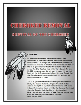 Cherokee:  Survival of the Cherokee:  How to write an Essay