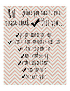Chevron Writing Checklist