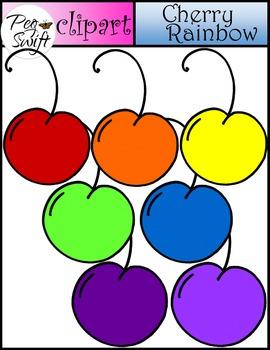 Cherries Clip Art ~ Cherry Rainbow
