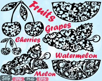 Cherries Grapes Watermelon Melon Citrus Fruits Juice clipa