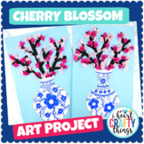 Cherry Blossom Art Project -Japanese porcelain vase templates