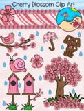 Flower Clip Art: Cherry Blossom Themed