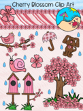 Flower Clip Art: Cherry Blossom Themed